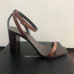 Saint Laurent LouLou stacked heeled sandal